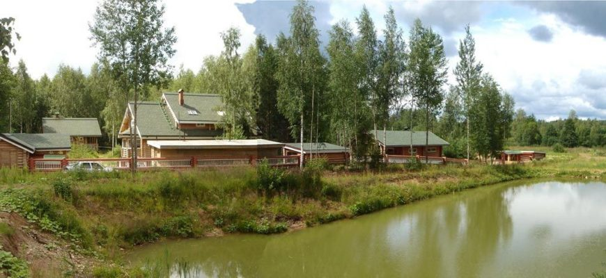 Комплект Новая Усадьба для отдыха на берегу реки